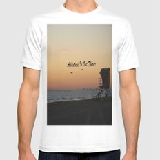 Adventure Is Out There MEDIUM Mens Fitted Tee White