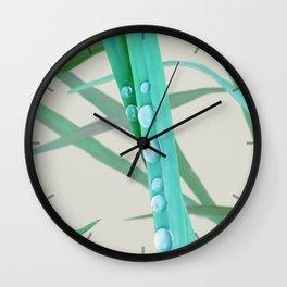 Dew on grass, 2 version Wall Clock