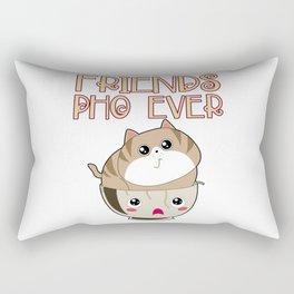 Funny Vietnamese Pho Soup Asian Noodle Bowl Cat Lover Gift Rectangular Pillow