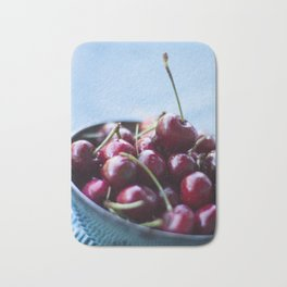 Life IS a Big Bowl of Luscious Red Cherries Bath Mat