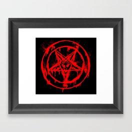 Red Pentagram Framed Art Print