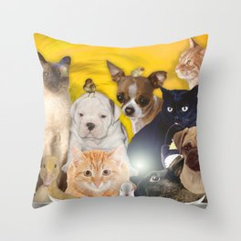 Coexisting Throw Pillow