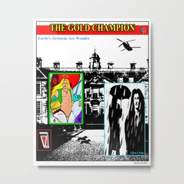 THE GOLD CHAMPION (book poster) Metal Print