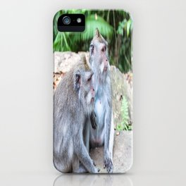 Crab-eating Macaque III (Balinese Monkey) iPhone Case