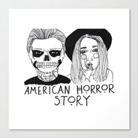 ahs Canvas Prints featuring AHS by ☿ cactei ☿