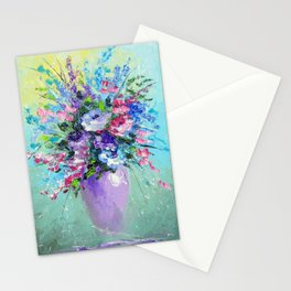 Bouquet of summer flowers Stationery Cards