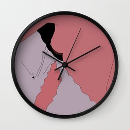 Minimal woman Wall Clock