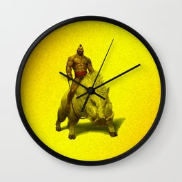hog rider Wall Clock