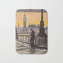 Saxophone Player, London South Bank Bath Mat