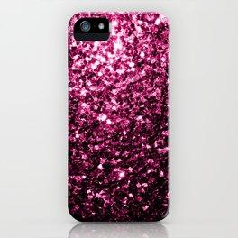Beautiful Dark Pink glitter sparkles iPhone Case