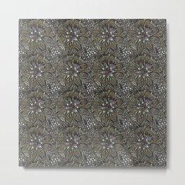 Black needlework with color Metal Print