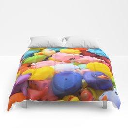 Rainbow Rubber Ducks Comforters