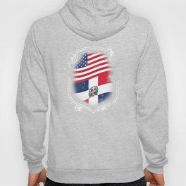 Dominican American Flag Hoody