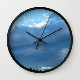 Wild Blue Yonder Wall Clock
