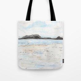 la plage à Saint-Malo Tote Bag