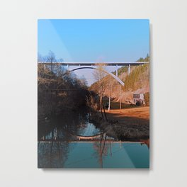 A bridge, the valley and beautiful reflections | Architectural photography Metal Print