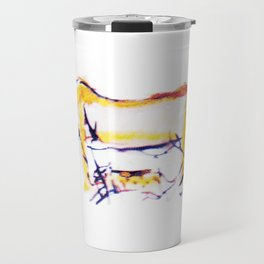 Lioness and cubs       by Kay Lipton Travel Mug