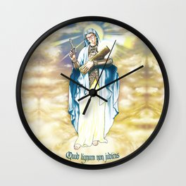 Our Lady of the Log Wall Clock
