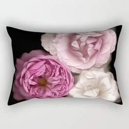 Purple, Pink, and White Roses Rectangular Pillow