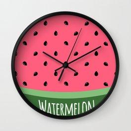Summer Watermelon Wall Clock