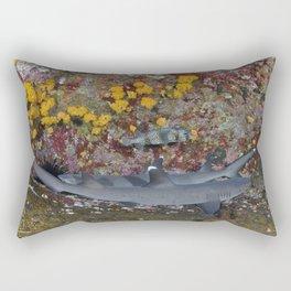 Man-shark Cave Rectangular Pillow