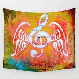 Music Takes Flight Wall Tapestry