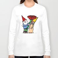 gnome Long Sleeve T-shirts featuring Gnome Love by Stephan Brusche