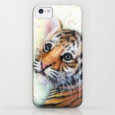 Tiger Cub Watercolor Cute Baby Animals iPhone 5c Slim Case