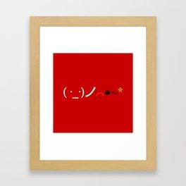 ( ・_・)ノ⌒●~* Bomb! Framed Art Print