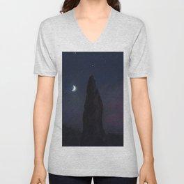 Half Moon Stone Unisex V-Neck
