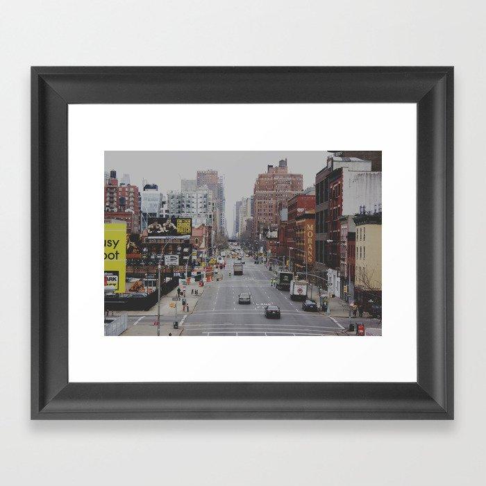 New York Street Framed Art Print