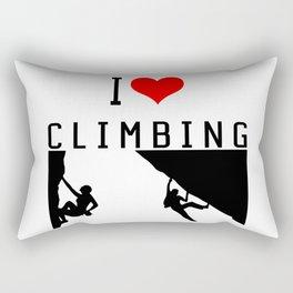 I Love Climbing - Sport Climb Climbing Climber Boulder Rectangular Pillow