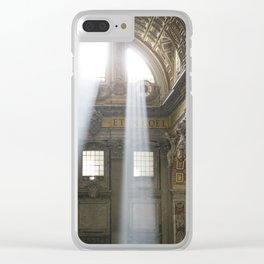 Sun rays in the Vatican, Italy Clear iPhone Case