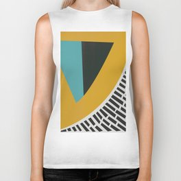Mustard Citrus Abstract Biker Tank