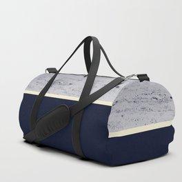 Navy Blue Pale Yellow on Navy Blue Concrete #1 #decor #art #society6 Duffle Bag