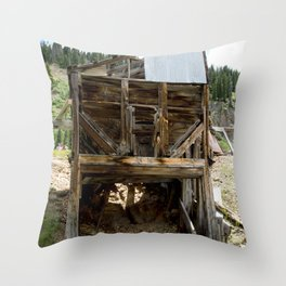 Exploring the Longfellow Mine of the Gold Rush - A Series, No. 9 of 9 Throw Pillow