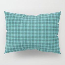 Teal Plaid Pillow Sham