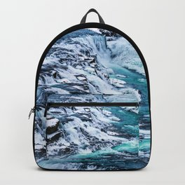 Gulfoss Waterfall Iceland Backpack