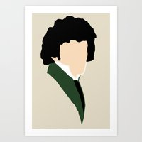 grantaire Art Prints featuring Grantaire by Swell Dame