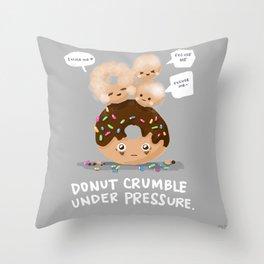 Donut Crumble Throw Pillow