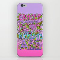 boob iPhone & iPod Skins featuring CANCER TOUCHED MY BOOB SO I KICKED ITS ASS by AZZURRO ARTS