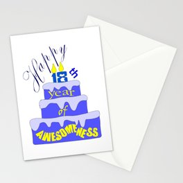 Happy 18th Year of Awesomeness Birthday Greeting Stationery Cards