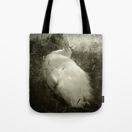 Lounging Peacock in the Shade Tote Bag