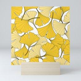ginkgo leaves (yellow) Mini Art Print
