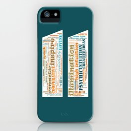 Life Path 11 (color background) iPhone Case