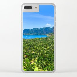 Palm Tree Tropical Thailand Island Bay Clear iPhone Case