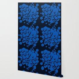 3D Cobalt blue Cubes Wallpaper