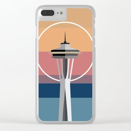 The Seattle Space Needle Clear iPhone Case