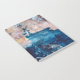 Breathe Again: a vibrant mixed-media piece in blues pinks and gold by Alyssa Hamilton Art Notebook