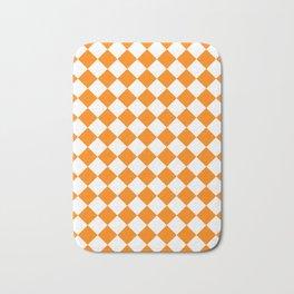 Diamonds - White and Orange Bath Mat
